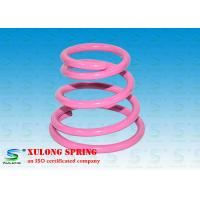Buy cheap High Strength Special Cone Shaped Springs Pink Powder Coated For Damping from wholesalers