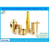 JF154 CNC Brass Parts , Brass Lathe Turning Machine CNC Mechanical Parts