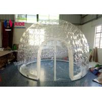 Buy cheap Inflatable Double Layer Transparent Bubble Inflatable Pvc Dome Tent Bubble Room from wholesalers
