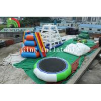 Buy cheap 5m D Green / White Inflatable Trampoline PVC Inflatable Water Toy For Adults from wholesalers