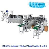 Buy cheap 3Ply/4Ply Automatic Medical Mask Machine 1with 2,  sales@aoyocommerce.com, Whatsapp 008613530008369 from wholesalers