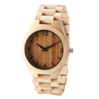 Buy cheap Dropshipping Custom Anniversary Gift Engraved Wooden Men Watch Wristwatches Natural Maple Customized Wood Watch from wholesalers