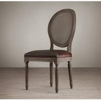 Buy cheap Burgundy Black And White Leather Dining Chairs For Hotel / Restaurant / Home from wholesalers