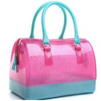 Buy cheap 2017 New Ladies Medium Jelly Candy Color Transparent Crystal Handbag from wholesalers