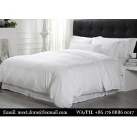 Buy cheap Luxury White Queen Size 100% Cotton Bedding Set Hotel Bed Linen For Hilton from wholesalers