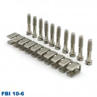 Buy cheap UK5N UKK5 UK2.5B Din Rail Terminal Blocks Accessories Center Jumper 10 Pole FBI 10-6 from wholesalers