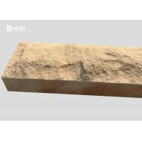 Buy cheap Chiselled Yellow Mushroom Sandstone Stone For Decoration Walls / Columns from wholesalers