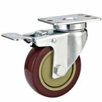 Buy cheap Medium duty castor wheel,castor wheel,caster wheel,PU,PVC,TPR,PP caster wheel,Industrial castor wheel from wholesalers