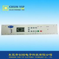 Buy cheap push button with LED membrane switch translucent black display window from wholesalers