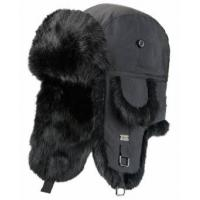 Buy cheap Black / Khaki Mink Fur Wool Winter Hat For Keeping Warm / Protecting Head from wholesalers