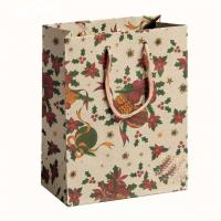 Buy cheap Shopping gift handbag printed custom design recycle kraft paper bag wholesale from wholesalers