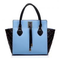 Buy cheap two tone patchwork wristlet bat bags in nappa leather from wholesalers