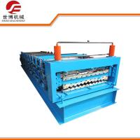 Buy cheap 840 - C21 Double Rib Roll Forming Equipment , Metal Roof Roll Forming Machine from wholesalers