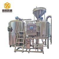 Buy cheap Large Capacity Beer Distillery Equipment 3 Vessel 2500L SS / Red Copper Material from wholesalers