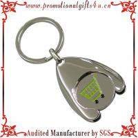 Buy cheap Shinny Nickel Shopping Metal Trolley Coin Keychain from wholesalers