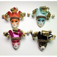 Buy cheap Custom Funny Orange Venetian Mask Brooch For Cloth Decoration from wholesalers