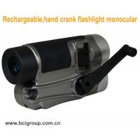 Buy cheap Rechargeable,hand crank flashlight monocular Camera Chargers ,hand crank flashlight from wholesalers