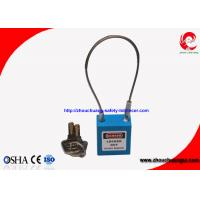 Buy cheap Blue Safety Cable Shackle Padlock with 38mm Non-Conductive PA Lock Body from wholesalers