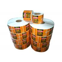 Buy cheap Removable Adhesive Print Sticker Labels Vinyl Private Label For Food / Personal Care from wholesalers