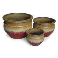 Buy cheap Ceramics Outdoor Ceramic Terracotta Pots / Planters GW6006 Set 4 from wholesalers