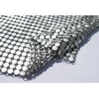 Buy cheap Metallic Sequined Aluminum Mesh Shower Curtain , Mesh Drapery Fabric Soft Texture from wholesalers