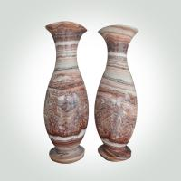 Buy cheap China marble Stone Handicrafts High Brightness Marble Flower Pot Decorative Artwork Customized Shaped / Size from wholesalers