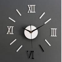 Buy cheap DIY 3D Roman Numbers Mirror Style Multi-Color Wall Clock Home Decor Mirror Wall Sticker from Wholesalers