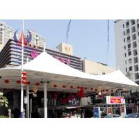 Buy cheap Pre - Stress Cable Sail Shades Tensile Roof Structures , Retractable Modular Tensile Structures product