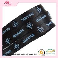Buy cheap 10 mm Black Custom Printed Ribbon for Christmas thermal transfer Printing process from wholesalers