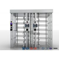 Buy cheap Double Lane Full Height Turnstile 304 Stainless Steel Turnstiles CE Approved product
