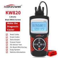 Buy cheap ABS Obd2 Eobd Car Diagnostic Scanner Support German Dutch Obd Reader Konnwei KW820 product
