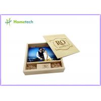 Buy cheap Maple And Walnut Custom Wood Flash Drives Photo Album Shape For Wedding Gifts product