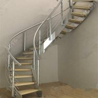 Buy cheap Modern Luxury Steel Curved Structure Staircase from wholesalers