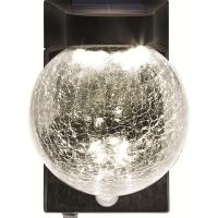Buy cheap Motion Sensor Solar Powered Crackle Glass Globe Lights , Solar Crackle Glass Ball Lights product