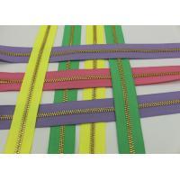 Metal Ykk Sewing Notions Zippers ,  Pink / Green / Purple Tape 9 Inch Separating Zipper