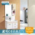 Buy cheap lamp PVC bathroom wash basin cabinet from wholesalers