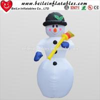 Buy cheap Hot sale inflatable snow man with inflatable christmas broom from wholesalers