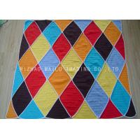 Buy cheap Diamonds Handmade Crochet Blankets With Overlock Edge / Hand Crocheted Baby Blankets from wholesalers