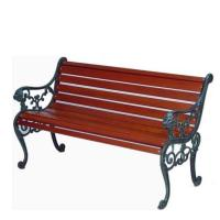 Buy cheap Cast Iron Wooden Garden Bench , Eco Friendly Outdoor Wooden Bench Seat from wholesalers