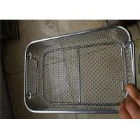 Buy cheap Perforated  Stainless Steel Wire Mesh Baskets For Medical Sterilization 50 - 120mm Width from wholesalers