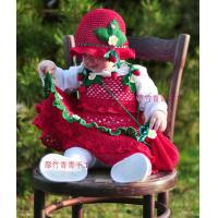 Buy cheap beautiful hand knitted princess dress,shoes and hat set from wholesalers
