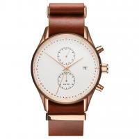Buy cheap Long genuine leather strap stainless steel case back watch brand from wholesalers