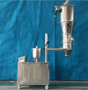 China 304 Stainless steel plastic granule / grain / powders dry granulation screening system auto feeder on sale