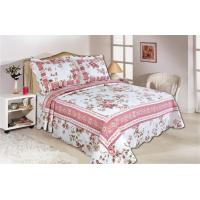 Pink Color Full Size Comforter Sets Home Textile Printed Quits With Frame ISO9001