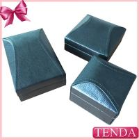 Buy cheap Unique Irregular Roof Black Leather Pendant Ring Jewellery Boxes from wholesalers