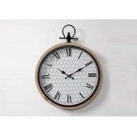 Buy cheap Metal Ring Classical Handcrafted Round Wooden Wall Clock from wholesalers