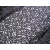 Buy cheap 150cm Water Soluble Cotton Nylon Lace Fabric Black Knitted CY-LW0032 from wholesalers