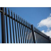 Buy cheap Decorative Euro Steel Fence Tubular Q235 1800mm x 2950mm 25mm square pipes Stain Interpon Powder from wholesalers