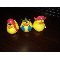 Three Yellow Pirates Mini Rubber Ducks Set Lovely Toy Eco - friendly PVC With Custom Logo