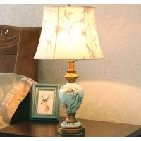 Buy cheap Resin vase base fabric lampshade soft light elegance Bedside table lamp LX107 from wholesalers